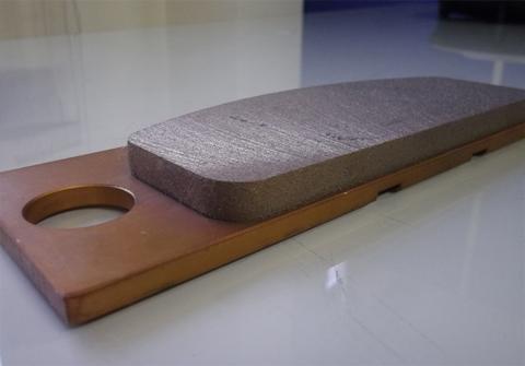 焼結金属ブレーキライニング(メタルパッド)